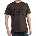 Proud Dad of a New York Firefighter Dark T-Shirt