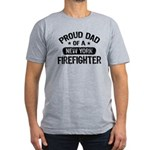 Proud Dad of a New York Firefighter Men's Fitted T