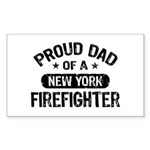 Proud Dad of a New York Firefighter Sticker (Recta