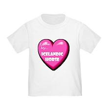I Love My Icelandic Horse Toddler T-Shirt