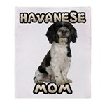 Havanese Mom Throw Blanket