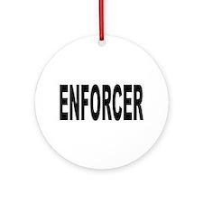 Enforcer Law Enforcement Ornament (Round)