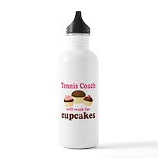 Funny Tennis Coach Water Bottle