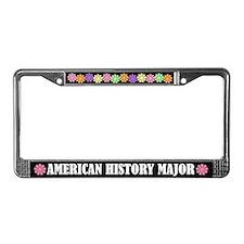 American History Major License Frame