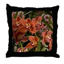 Orchid Patch Throw Pillow