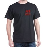 89 Rocks ! Black T-Shirt