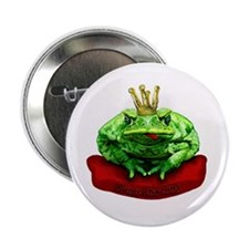 "Prince Charming Frog 2.25"" Button (10 pack)"