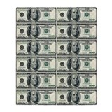 Hundred dollar bill Throw Blankets