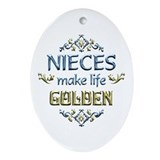 Niece Sentiments Ornament (Oval)