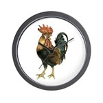 Rooster Chicken Wall Clock