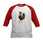 Rooster Chicken (Front) Kids Baseball Jersey