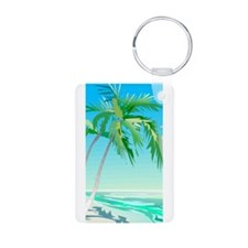 At The Beach Keychains