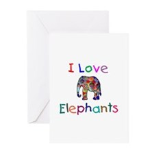 I Love Elephants Greeting Cards (Pk of 20)