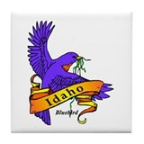 Funny Idaho state bird Tile Coaster