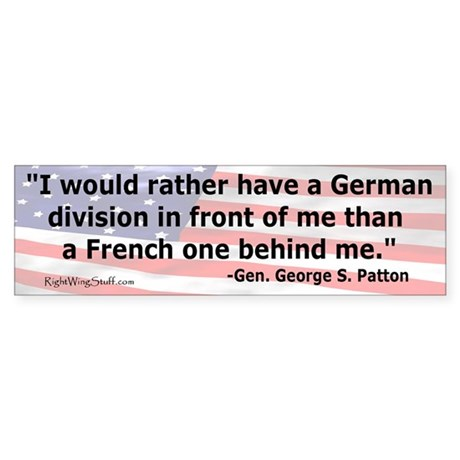 """Patton Quote"" Bumper Sticker"
