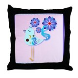 Spring Blue Bird Of Happiness Throw Pillow
