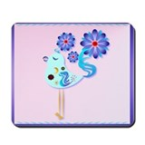 Spring Blue Bird Of Happiness Mousepad