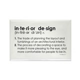 interior design DEFINITION Rectangle Magnet