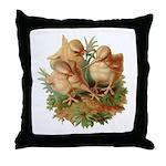 Chicken Chicks Throw Pillow