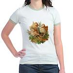 Chicken Chicks (Front) Jr. Ringer T-Shirt