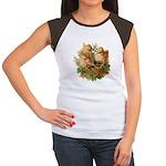 Chicken Chicks (Front) Women's Cap Sleeve T-Shirt