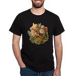 Chicken Chicks (Front) Black T-Shirt