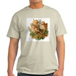 Chicken Chicks (Front) Ash Grey T-Shirt