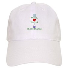 Peace, Love, & Cloth Diapers Baseball Cap