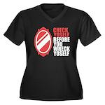 80's slang Women's Plus Size V-Neck Dark T-Shirt