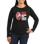 80's slang Women's Long Sleeve Dark T-Shirt