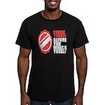 80's slang Men's Fitted T-Shirt (dark)