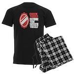 80's slang Men's Dark Pajamas