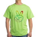 Rainbow Pieces Green T-Shirt