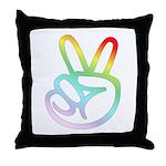 Rainbow Pieces Throw Pillow