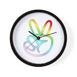 Rainbow Pieces Wall Clock