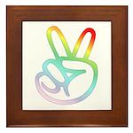 Rainbow Pieces Framed Tile