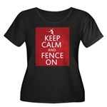 keep clam and fence on Women's Plus Size Scoop Nec