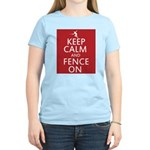 keep clam and fence on Women's Light T-Shirt