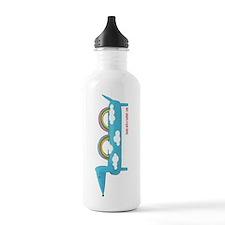 Happy Rainbow Doxie Water Bottle