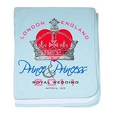 Prince & Princess Royal Weddi baby blanket