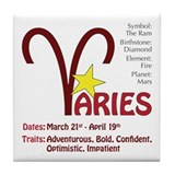 Aries Traits Tile Coaster