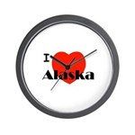 I Love Alaska! Wall Clock
