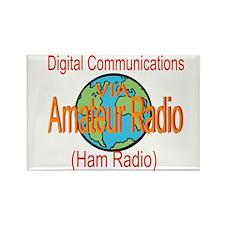 Digital Communications Rectangle Magnet