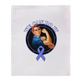 Stomach Cancer WeCanDoIt Throw Blanket