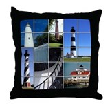 Outer Banks Lighthouses Throw Pillow