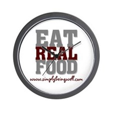 Eat REAL Food! Wall Clock