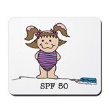 SPF 50 Girl 3 Mousepad