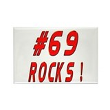 69 Rocks ! Rectangle Magnet