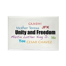 Unity and Freedom Rectangle Magnet (100 pack)