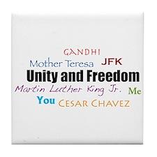 Unity and Freedom Tile Coaster